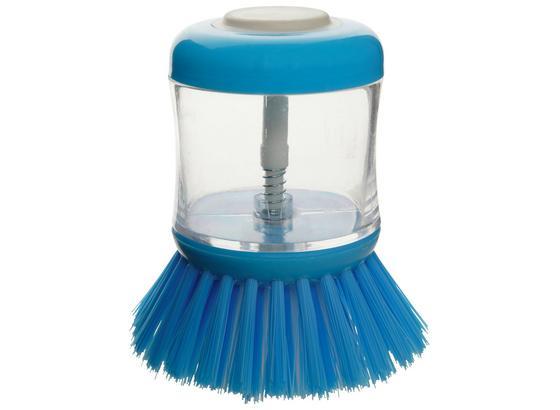 Spülbürste Milan - Blau/Transparent, KONVENTIONELL, Kunststoff (8/10cm) - Fackelmann