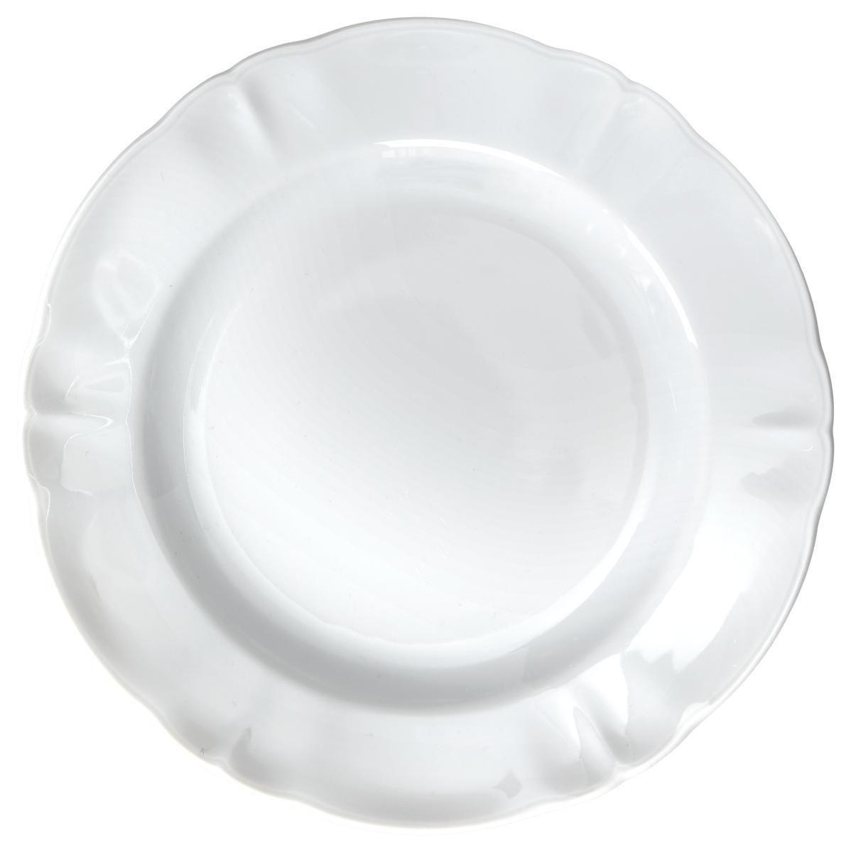 Desszertes Tányér Jesko - fehér, konvencionális, kerámia (21cm) - OMBRA