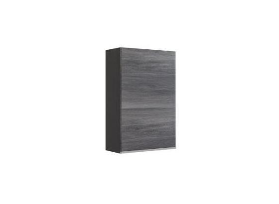 Hängeschrank Arezzo B: 40cm, Graphit + Eiche Dekor - Graphitfarben/Silbereichenfarben, Basics, Holzwerkstoff (40/64/20cm) - MID.YOU