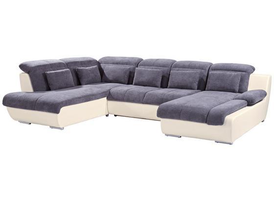 Sedacia Súprava Multi - sivá/krémová, Moderný, textil (228/345/184cm)