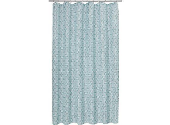 Záves Do Sprchovacieho Kúta Spain - tyrkysová, Štýlový, textil (180/200cm) - Mömax modern living