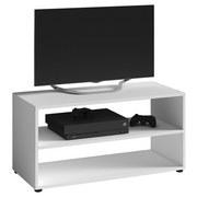TV-Regal Vancouver B: 90 cm Weiß - Schwarz/Weiß, KONVENTIONELL, Holzwerkstoff (90/45/39cm) - MID.YOU