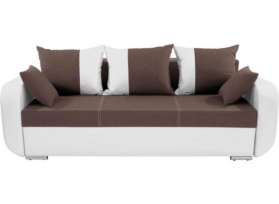 Dreisitzer-sofa Faro - Chromfarben/Schwarz, KONVENTIONELL, Holz/Textil (225/90/92cm)