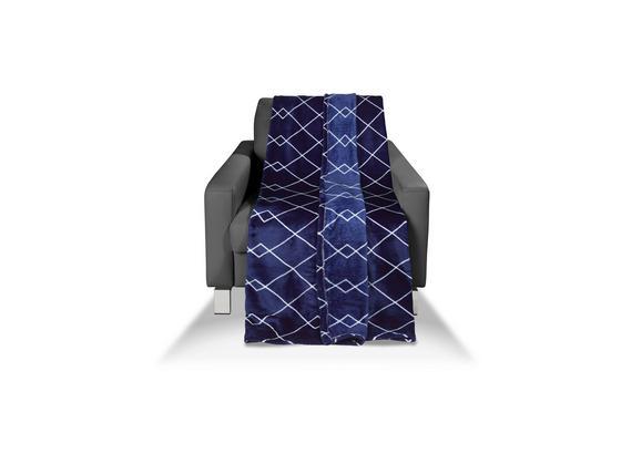 Kuscheldecke Jette - Blau, MODERN, Textil (130/170cm) - Luca Bessoni