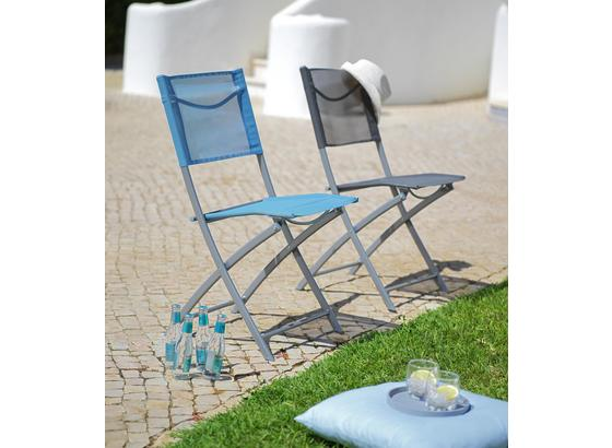 Záhradná Stolička Rüdiger - antracitová/chrómová, kov/textil (43/83/53cm) - Mömax modern living