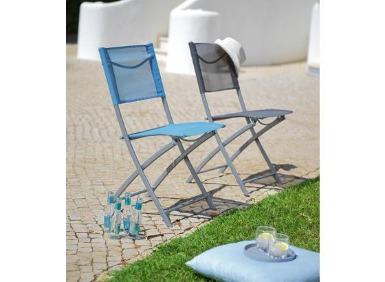 Zahradní Židle Rüdiger - barvy chromu/antracitová, kov/textil (43/83/53cm) - Mömax modern living