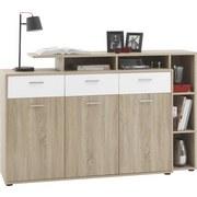 Kommode Tom - Weiß/Sonoma Eiche, MODERN, Holz (150/105/40cm)