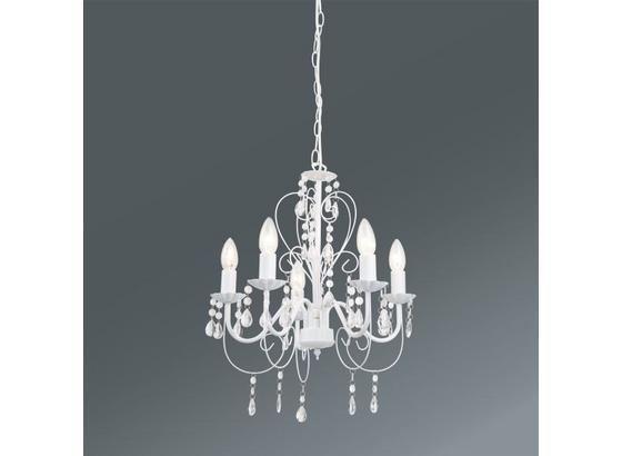 Závesná Lampa Crisi - biela, Romantický / Vidiecky, umelá hmota/kov (44/150cm) - Mömax modern living