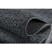 Hochflorteppich Nobel Micro 120 Rund - Grau, MODERN, Textil (120cm)