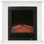 Elektrokamin 1800w Weiß Flammeneffekt Lugano - Weiß, MODERN, Glas/Metall (70/71/22cm)