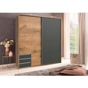 Skříň S Posuvnými Dveřmi Emden - barvy dubu/barvy grafitu, Moderní, dřevěný materiál (180/198/64cm)