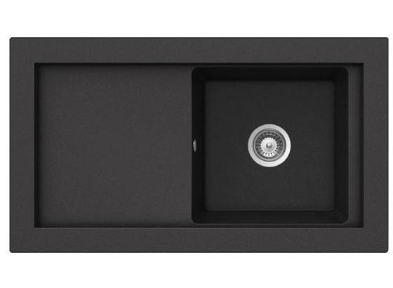 Dřez Aura 45 B - Tg - černá, Lifestyle, kámen (52,5/92/22,8cm) - Teka