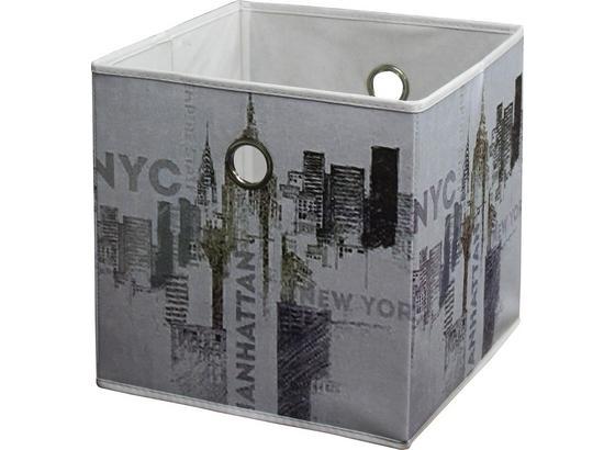 Skládací Krabice Nyc - vícebarevná, Moderní, textil (32/32/32cm)
