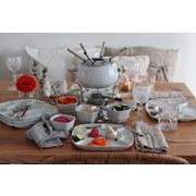 Fondueset 28tlg. für 6 Personen - Weiß, Basics, Keramik/Metall (35,5/28/34,5cm)