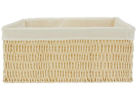 Koš Sally - Xl - bílá/přírodní barvy, textil/papír (40/31/17cm) - Mömax modern living