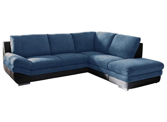 Wohnlandschaft In L-Form Nardo 264x221 cm - Chromfarben/Blau, MODERN, Textil (264/221cm)