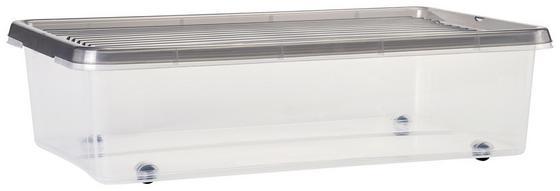 Ágy Alatti Tároló Műanyag - Átlátszó, konvencionális, Műanyag (56/16.5/37cm)