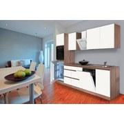 Küchenblock Premium B: 280 cm Weiß Matt - Eichefarben/Weiß, MODERN, Holzwerkstoff (280/220,5/60cm) - MID.YOU