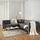 Sedacia Súprava Crissie - tmavosivá, Moderný, drevo/textil (233/230cm) - Mömax modern living