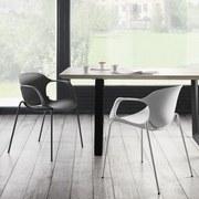 Židle Garcia - bílá, Moderní, kov/umělá hmota (56/75/54cm) - MODERN LIVING