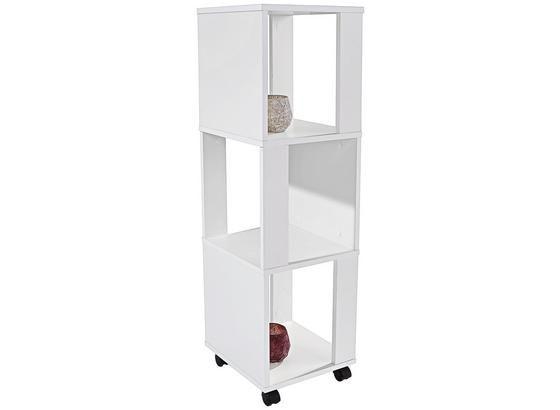 Regál Rolly 2 - bílá, Moderní, kompozitní dřevo/umělá hmota (34/111/34cm)