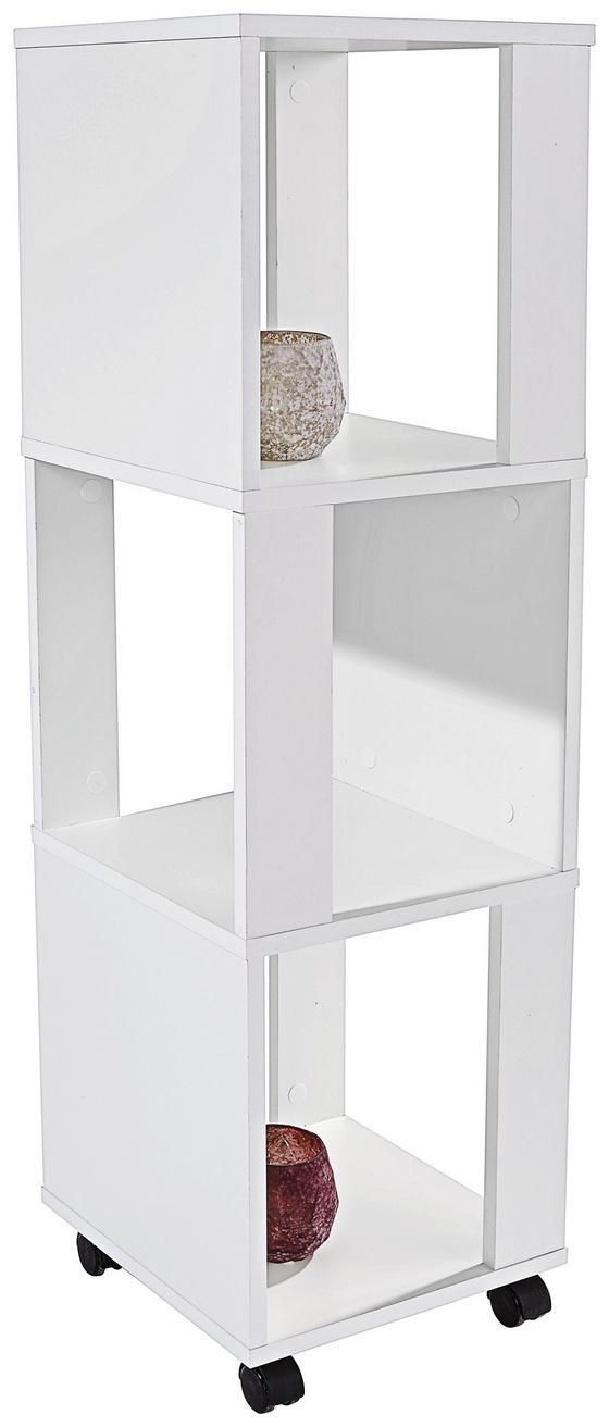 Regal Rolly 2 - Weiß, MODERN, Holzwerkstoff/Kunststoff (34/111/34cm)