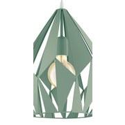 Hängeleuchte Carlton-P H: 150 cm mit Metall-Fassung - Pastellgrün, LIFESTYLE, Metall (31l)
