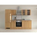 Küchenblock Nano 270 cm Buche - Buchefarben/Creme, MODERN, Holzwerkstoff (270/60cm)