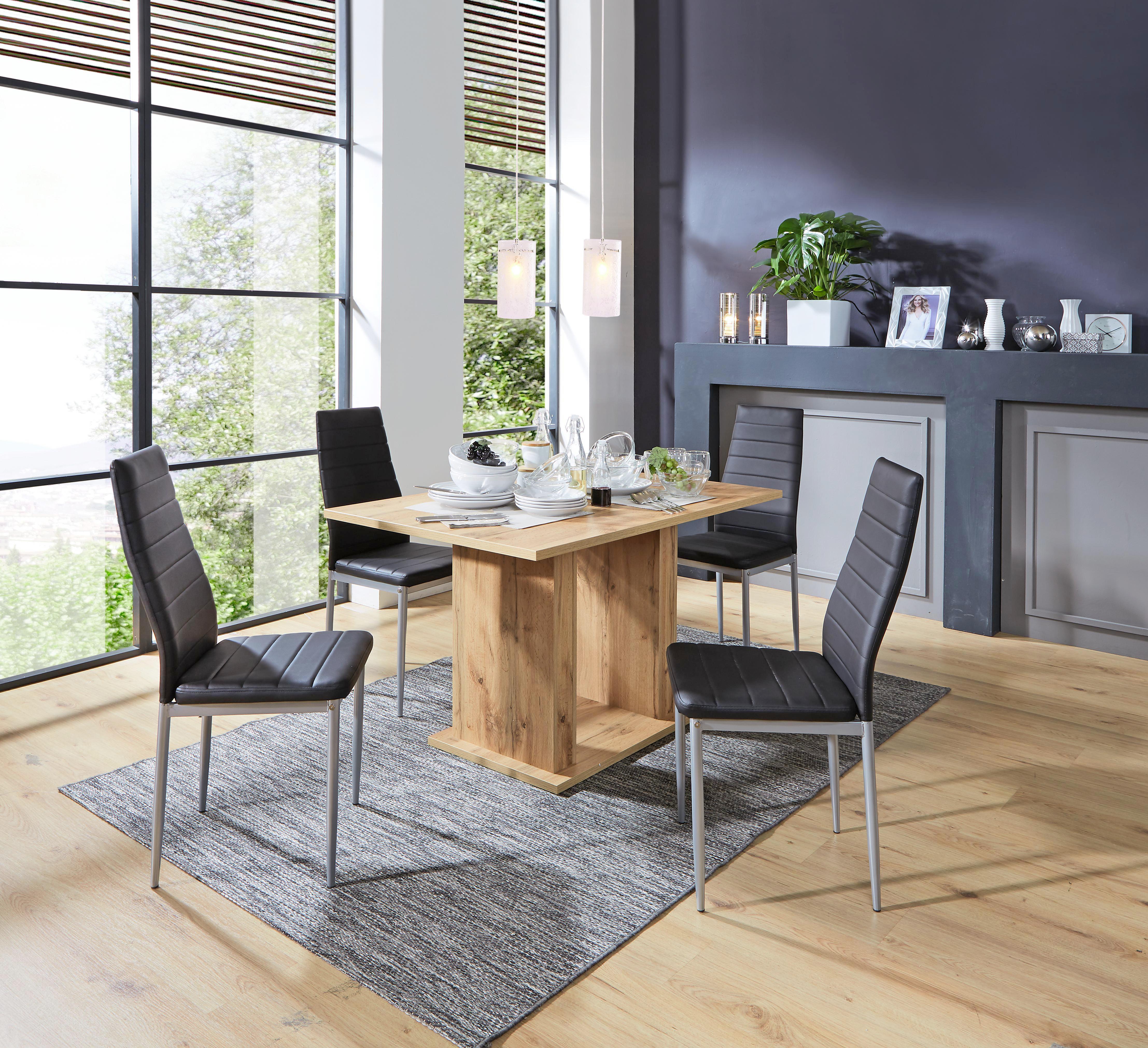 Szék Franzi *top Ár* - alu színű/fekete, konvencionális, textil/fém (42/92/53cm)