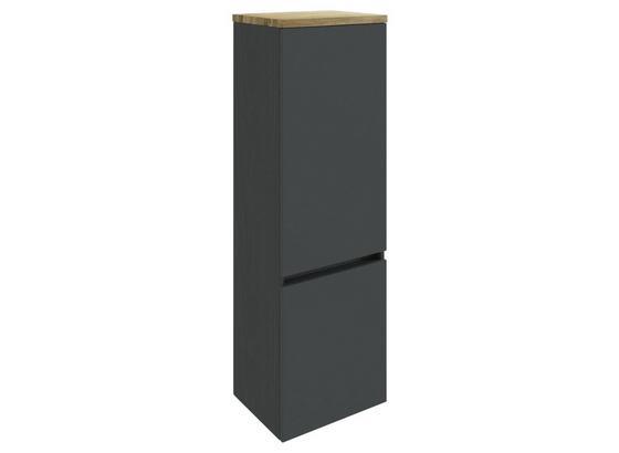 Midischrank Pienza B: 40 cm Grau - Silberfarben/Grau, Basics, Holzwerkstoff (40/130/35cm) - Livetastic