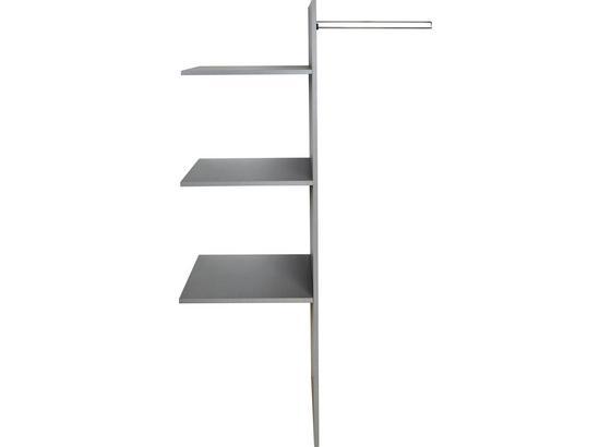 Vnitřní Členění Bonn/chess/stripe - šedá, dřevo (87/147/50cm)
