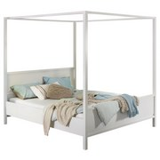 Himmelbett 140x200 Marit, Weiß - Weiß, Basics, Holzwerkstoff (140/200cm) - Livetastic