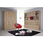 Drehtürenschrank mit Laden 136cm Albero, Eiche Deko - Eichefarben, Design, Holzwerkstoff (136/197/54cm) - MID.YOU
