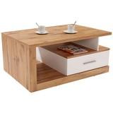 Couchtisch Holz mit Stauraum Iguan, Wotan Eiche Dekor - Eichefarben/Weiß, MODERN, Holzwerkstoff (110/45/67cm)