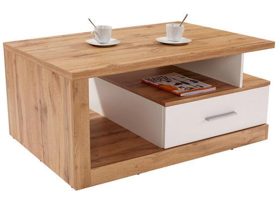 Konferenční Stolek Iguan - bílá/barvy dubu, Moderní, kompozitní dřevo (110/45/67cm)
