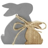 Dekohase Alani - Naturfarben/Grau, KONVENTIONELL, Holz/Textil (14/14/2,5cm) - Ombra