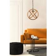 Hängeleuchte Mailo H: 125 cm 1-Flammig mit Seil-Design - Schwarz/Braun, MODERN, Naturmaterialien/Metall (40/125cm)