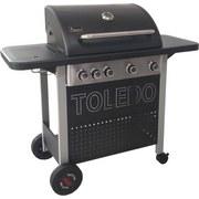 Gasgrill Toledo 500 4 Brenner 117,6x108x48,4 cm - Silberfarben/Schwarz, MODERN, Metall (127,6/108/48,4cm)