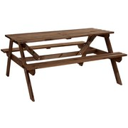 Gartengarnitur Marie - Braun, MODERN, Holz (148/130,5/71,2cm) - James Wood