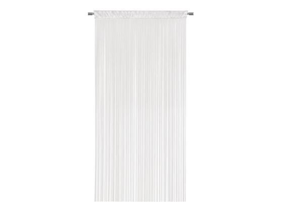 Fadenvorhang Stangendurchzug Ulla B: 90cm, Weiß - Weiß, MODERN, Textil (90/245cm) - Luca Bessoni