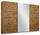 Schwebetürenschrank Belluno 271cm Wotan/spiegel - Eichefarben, MODERN, Holzwerkstoff (271/210/62cm)