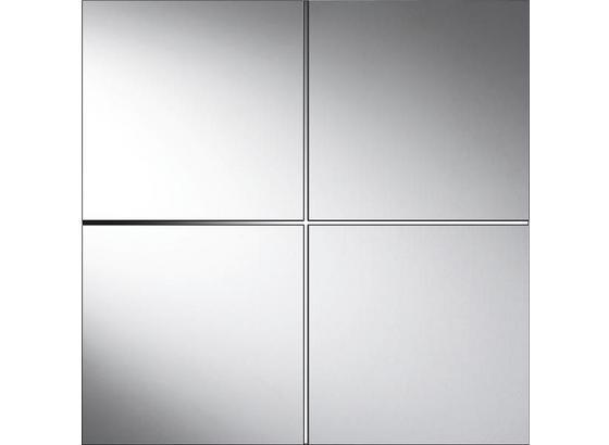 Zrkadlová Sada Quattro - strieborná, Konvenčný, sklo (30/30cm)