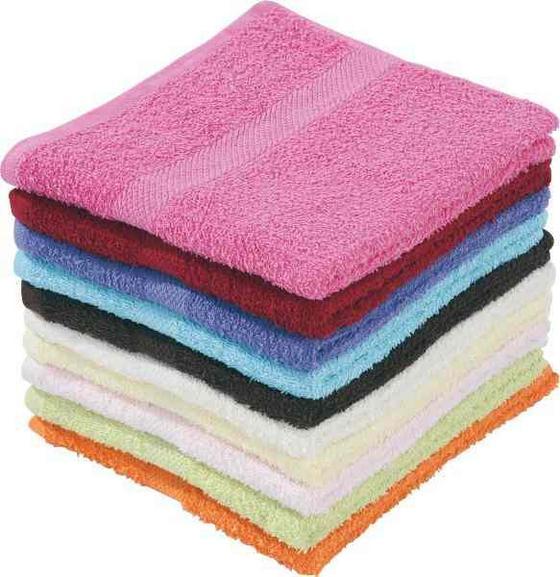 Handtuch Happy - Beige/Gelb, KONVENTIONELL, Textil (50/90cm) - Ombra