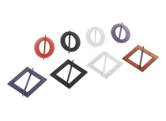 Függönydekoráció Square/ellipse - Piros/Lila, konvencionális, Műanyag (12.5/17.5cm)