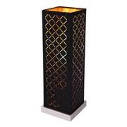 Tischlampe Clarke Schwarz/Gold Textil mit Lautsprecher - Goldfarben/Schwarz, Basics, Kunststoff/Textil (11/11/35cm)
