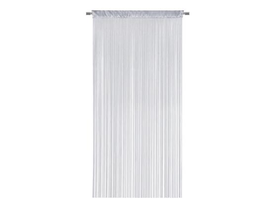 Fadenstore Ulla - Silberfarben, MODERN, Textil (90/245cm) - Luca Bessoni