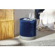 Hocker Osane B: 38 cm Blau/Grau - Blau/Grau, Basics, Holzwerkstoff/Kunststoff (38/43/32,5cm) - MID.YOU