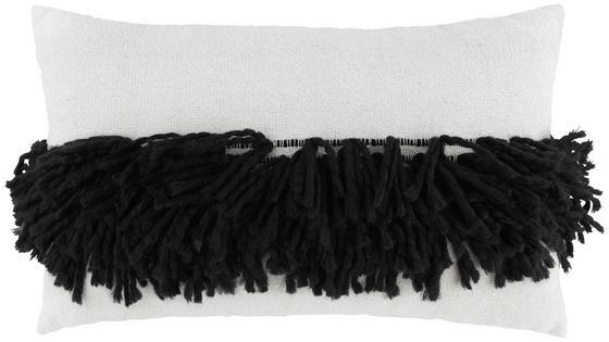 Polštář Ozdobný Harare 3 - bílá/černá, Lifestyle, textil (30/50cm) - Mömax modern living