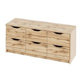 Komoda Adriana 1 Dub - barvy dubu, Moderní, dřevěný materiál (116/50/40cm)