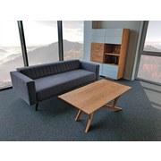 Dreisitzer-Sofa Thomas Flachgewebe - Grau, Basics, Textil (208/90/94cm)